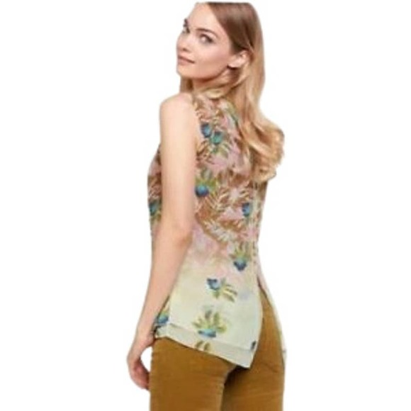 CAbi Style 5216 Tropical Print Parlor Top Large